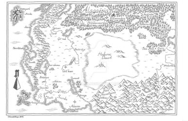 Updated Map of Alagaesia from Eragon by acreamer