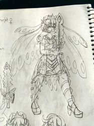 Tried to do a Morpho Knight gijinka by LoreaMStudios