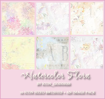 watercolor flora brushes by vblackangelv
