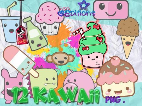 Pack de Kawaii - Cutes png by IisaEditions