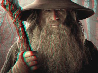 The Grey Wizard 3-D conversion by MVRamsey