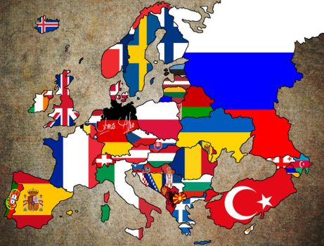 Europe Flag Map by ChR1sAlbo