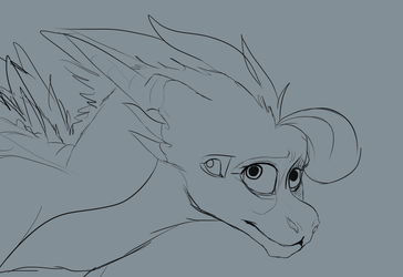 Spas headshot WIP by SpasDragonStudios
