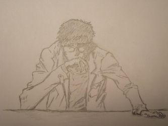 Gendo Ikari Master of Glasses-Fu by therealfolkblues007