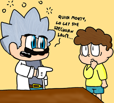 Doc. Mario and Morty by genny03