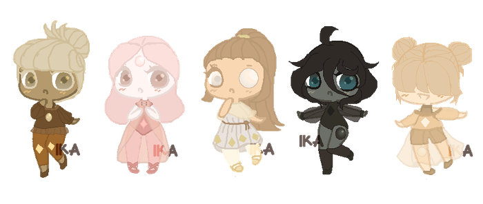 SU GEM POINT ADOPTS: Pearl Set 2 | Open |1 Left! by InvaderIka