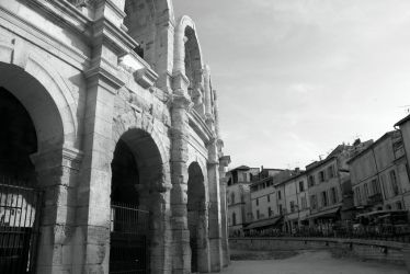 Coliseum in Arles by blind-eye-to-color