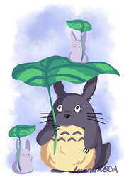 Fanart - Totoro and friends by levenark