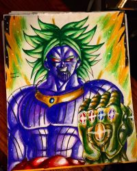 Broly as thanos  by xprotector10