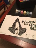 Assassin creed logo painting by brandonthebeast34