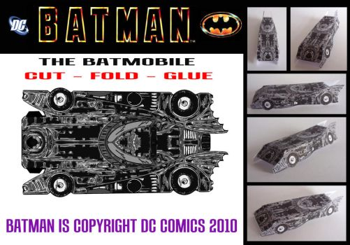 Batman - The Batmobile by mikedaws
