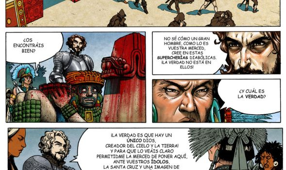 Tenochtitlan, the End of the Fifth Sun comic page by Jaime-Gmad