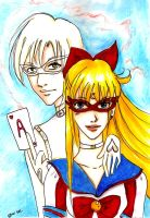 Sailor V and Adonis by Otai