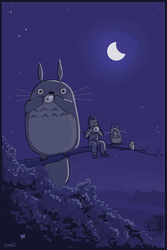 I wish I was a Totoro too by gribouille