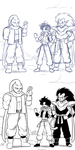 Dragon Ball Multiverse 10 years - My panel 2 by Veguito2b