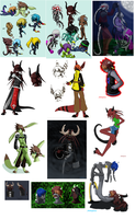 Xenaser Species and Characters by Nikkoleon