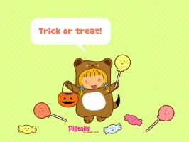 Pigtails Trick or treat? by jazgirl