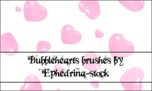 Bubble hearts brushes by ephedrina-stock