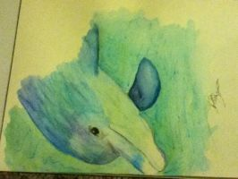 quick dolphin painting by MakeTheWorldYours