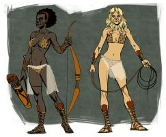 Jungle Girl characters by PENICKart