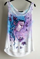 Spring Ink Fairy - painted T-shirt by mayan-art