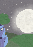 Lower the Moon. by Aquillic-Tiger