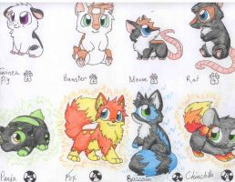 Animal Adoptables CLOSED by Wolfie-Forever