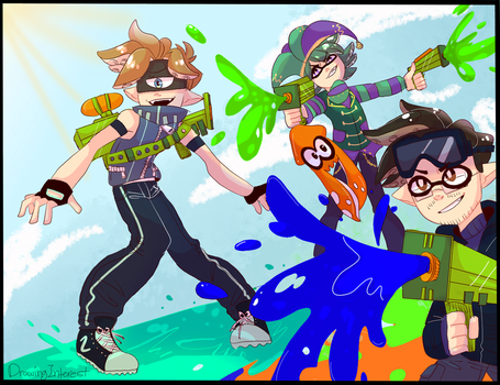 Splatoon crossover by DrawingInterest