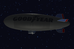 Deviant Art Logo on the Goodyear Blimp by iconkid