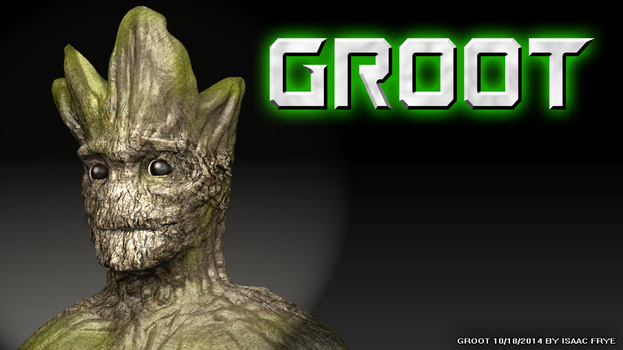GROOT - Guardians of the Galaxy 3D Model Render by HomelessGoomba