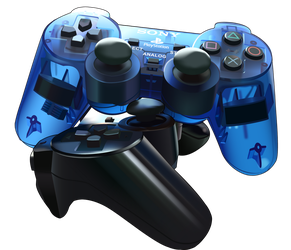 Playstation Controllers by OzyOxy