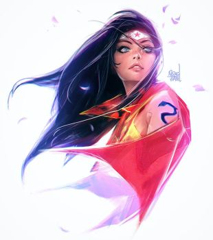 Wonder Woman sketch by rossdraws