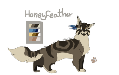 Warrior Cats catsona- Honeyfeather by October-Tears