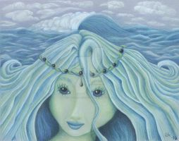 Tethys - Ocean Goddess by Miss-A-sketches