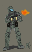 The Rookie -ODST- by CrashyBandicoot