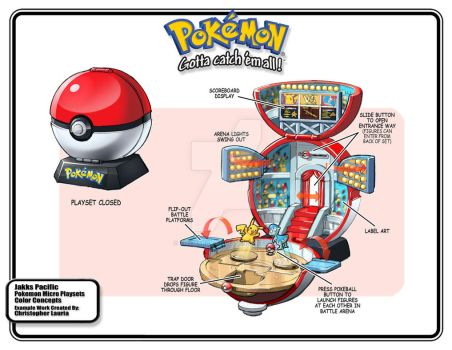 Pokemon Battle Arena Toy Playset by toymaker-cl