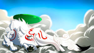 Sleepy Amaterasu - Okami (Non Fire Version) by EpicSaveRoom