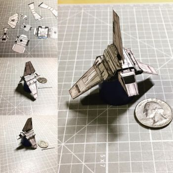 Star Wars micro Shuttle Tydirium papercraft  by otherwld