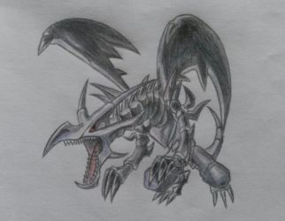 Red Eyes Black Dragon from Yugioh by Cloudjumperlove