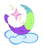 My Little Pony Crescent Wing's Cutie Mark by Songal