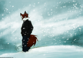 Fox in the snow by FoxInShadow