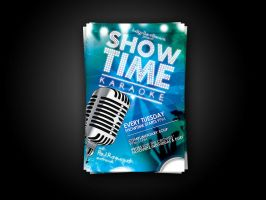 Showtime Karaoke flyer by artofmarc