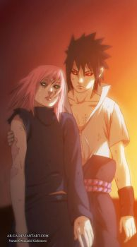 Naruto 685: Sasuke and Sakura by AR-UA