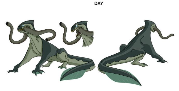 Ben 10 Lake Monster design by Devilpig