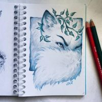 Instaart - Cunning arctic fox by Candra