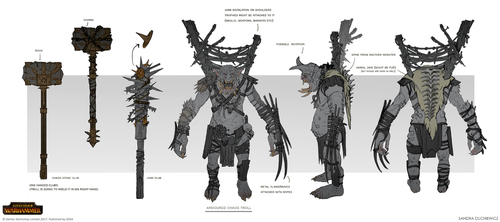 Total War: Warhammer - Armoured Chaos Troll by telthona