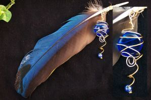 Feather Pendant by LuthienNightwolf