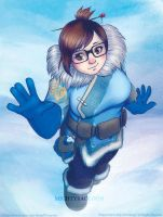Overwatch Mei - card by MightyRaccoon