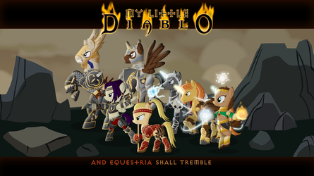 My Little Diablo: Characters wallpaper by MasterRottweiler