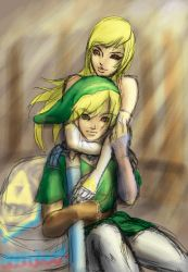 Link and Zelda WIP by leftee007